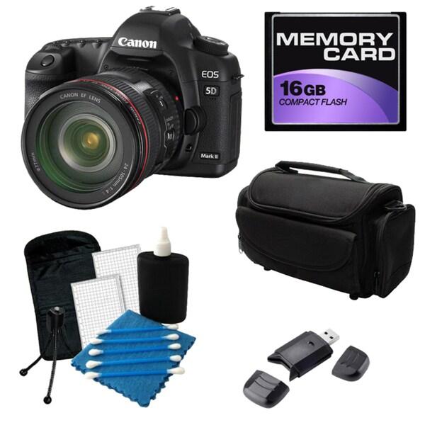 Canon EOS 5D Mark II Digital SLR Camera with 24-105 IS USM Lens Bundle
