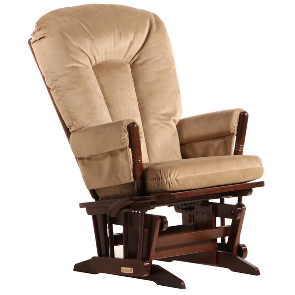 Dutailier Multi-position Coffee/ Light Brown Reclining 2-post Glider