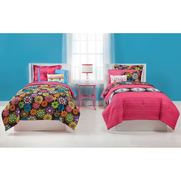 Jackie Peace & Thank You 7-piece Bed in Bag with Sheet Set