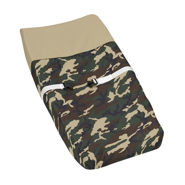 Sweet JoJo Designs Green Camouflage Changing Pad Cover