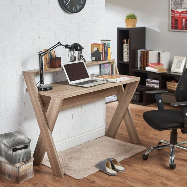 Furniture of America Intersecting Home/ Office Desk - Free Shipping