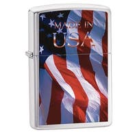 Zippo Flag Brushed Chrome 24797 Lighter