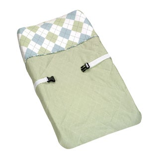 Sweet JoJo Designs Blue and Green Argyle Changing Pad Cover