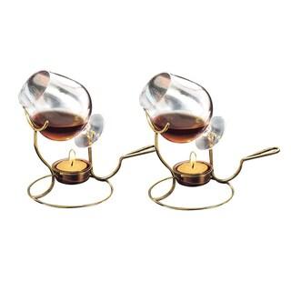 Old Dutch Brandy Warmer w/ Tea Lights and Glass Snifter