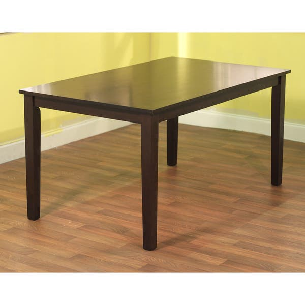 Simple Living Shaker Espresso 6 Piece Dining Table Set