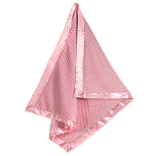 Sweet JoJo Designs Super Soft Pink Minky Dot and Satin Baby Blanket