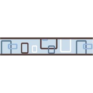 Sweet JoJo Designs Blue and Brown Geo Modern Wall Border