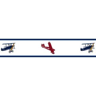 Sweet JoJo Designs Airplanes Vintage Aviator Wall Border