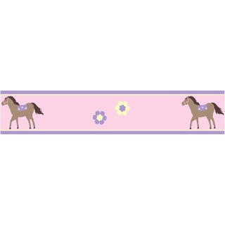 Sweet JoJo Designs Pretty Pony Horse Wall Border