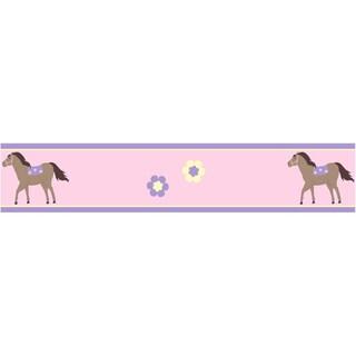 Sweet JoJo Designs Pretty Pony Horse Wall Border