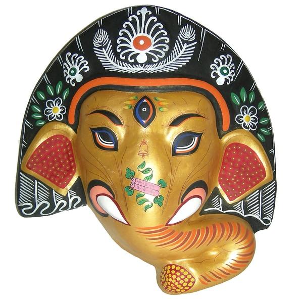 Ganesh Paper Mache Mask (Nepal)