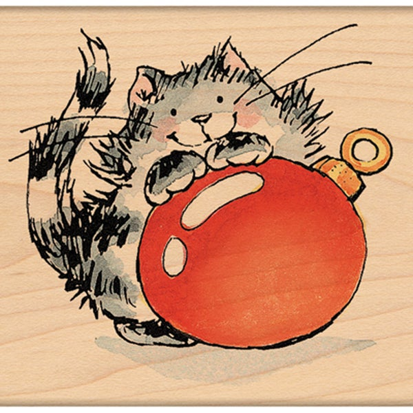 "Penny Black Mounted Rubber Stamp 2.25""X2.25""-Merry Kitty"