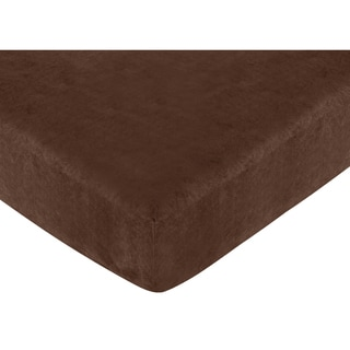 Sweet JoJo Designs All Star Sports Chocolate Fitted Crib Sheet