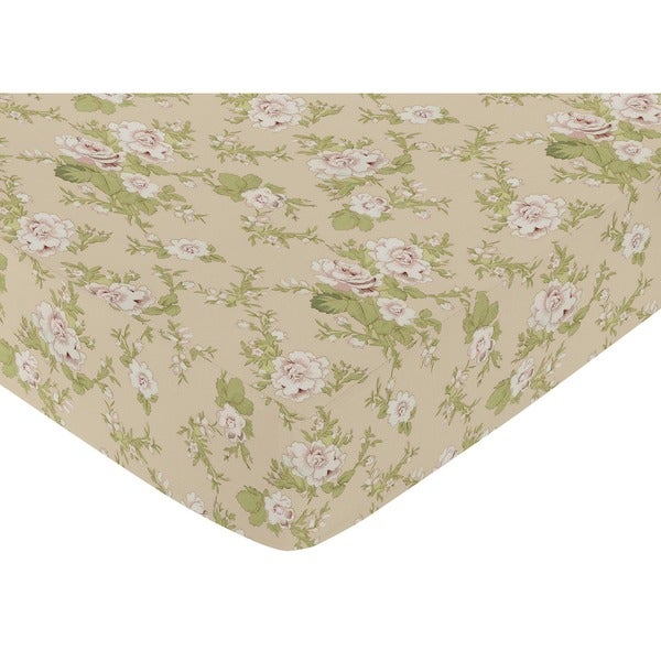 Sweet JoJo Designs Baby Annabel Floral Fitted Crib Sheet