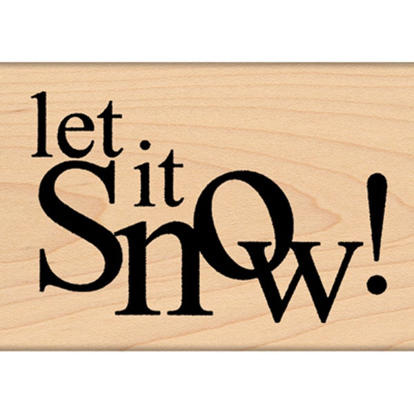"""Penny Black Mounted Rubber Stamp 1.75""""X2""""-Wishing For Snow!"""