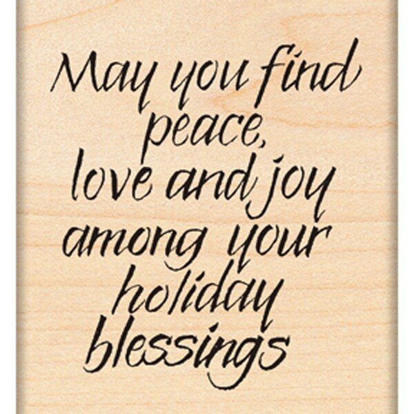 """Penny Black Mounted Rubber Stamp 2.25""""X2.75""""-Holiday Blessing"""
