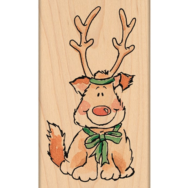 """Penny Black Mounted Rubber Stamp 2""""X3.25""""-Reindeer Pup"""