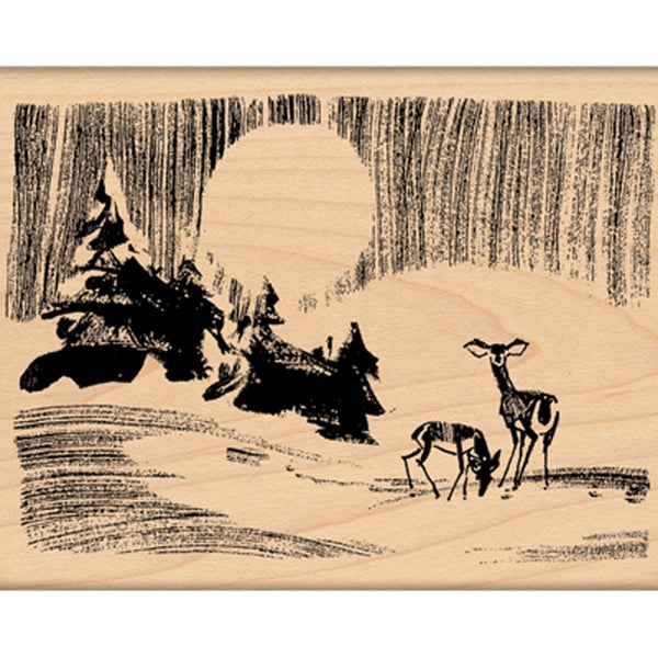 "Penny Black Mounted Rubber Stamp 3.25""X4""-Forest Silence"