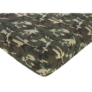 Sweet JoJo Designs Green Camo Fitted Crib Sheet
