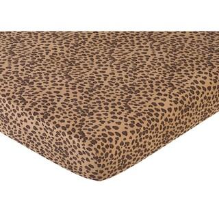 Sweet JoJo Designs Cheetah Girl Fitted Crib Sheet