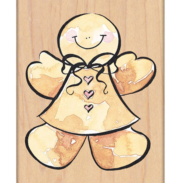 """Penny Black Mounted Rubber Stamp 3""""X3.25""""-Ginger Girl"""