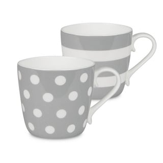 Konitz Mugs Dots and Stripes, Set of 2