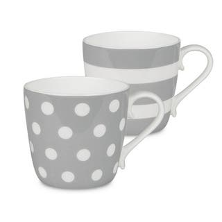 Konitz Mugs Dots and Stripes, Set of 2|https://ak1.ostkcdn.com/images/products/7594696/P15019784.jpg?impolicy=medium