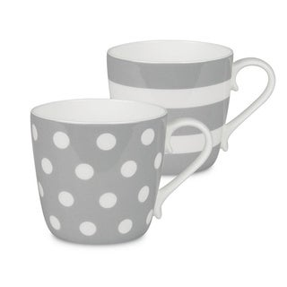 Konitz Mugs Dots and Stripes, Set of 2 (More options available)