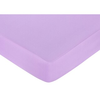 Sweet JoJo Designs Danielle's Daises Light Purple Fitted Crib Sheet