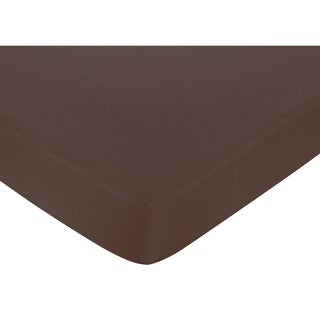 Sweet JoJo Designs Designer Dot Chocolate Brown Fitted Crib Sheet