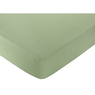Sweet JoJo Designs Green Fitted Crib Sheet