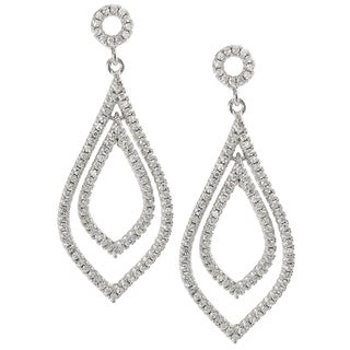 Journee Collection Sterling Silver Cubic Zirconia Dangle Earrings