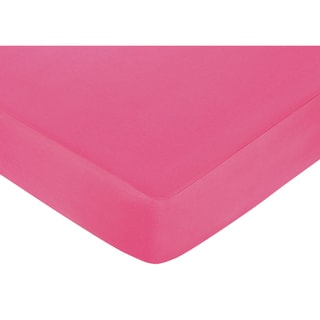 Sweet JoJo Designs Dark Pink Fitted Crib Sheet