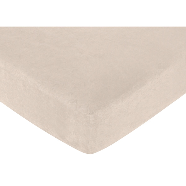 Sweet JoJo Designs Taupe Fitted Crib Sheet