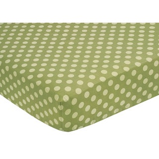 Sweet JoJo Designs Green Dots Fitted Crib Sheet