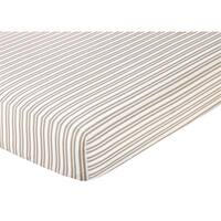 Sweet JoJo Designs Taupe Striped Fitted Crib Sheet