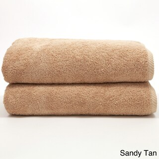 Authentic Hotel and Spa Plush Soft Twist Turkish Cotton Bath Towel (Set of 2) (Option: Tan)