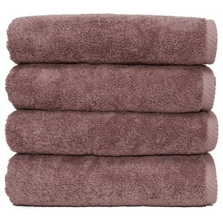Authentic Hotel and Spa Plush Soft Twist Turkish Cotton Hand Towel (Set of 4) (Option: Plum purple)