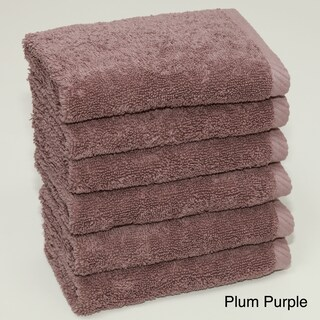 Authentic Hotel and Spa Plush Soft Twist Turkish Cotton Washcloth (Set of 6) (Option: Plum purple)