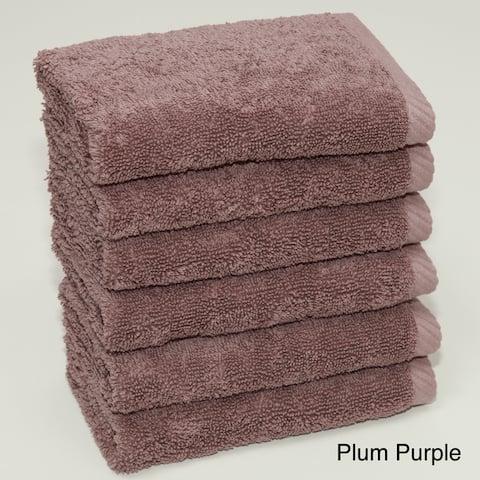 Authentic Hotel and Spa Plush Soft Twist Turkish Cotton Washcloth (Set of 6)