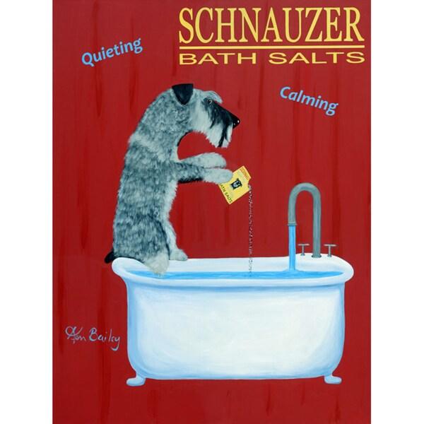 Ken Bailey 'Schnauzer Bath Salts' Unframed Print Art