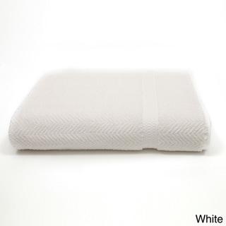 Authentic Hotel and Spa Herringbone Weave Turkish Cotton Bath Sheet