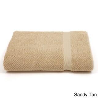 Authentic Hotel and Spa Herringbone Weave Turkish Cotton Bath Sheet (Option: Sandy Tan)