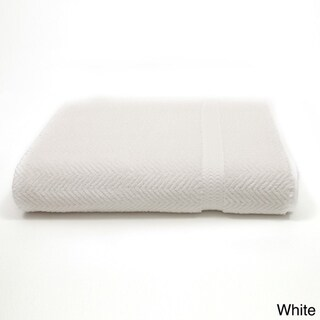 Authentic Hotel and Spa Herringbone Weave Turkish Cotton Bath Sheet