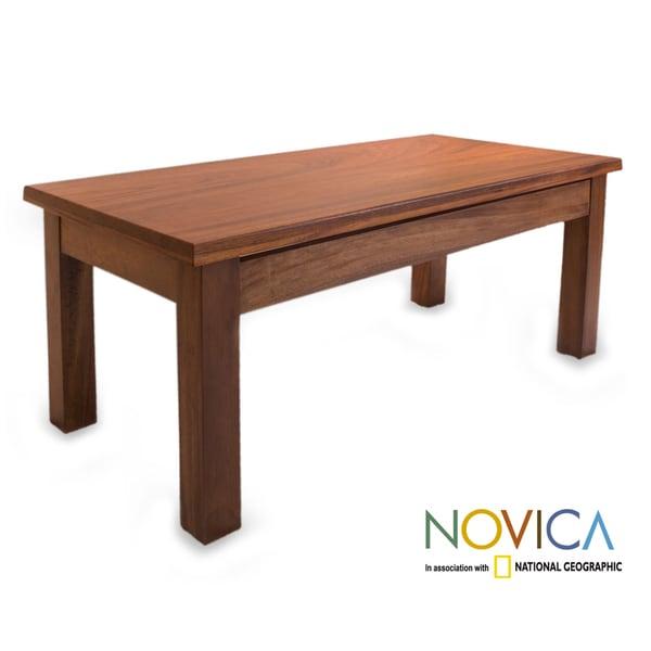 Parota Wood 'San Pedrito Mission' Coffee Table (Mexico)