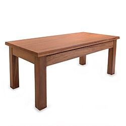 Handmade Parota Wood 'San Pedrito Mission' Coffee Table (Mexico)