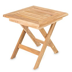 Handmade Teakwood 'Mexican Sierra' Folding Table (Mexico)