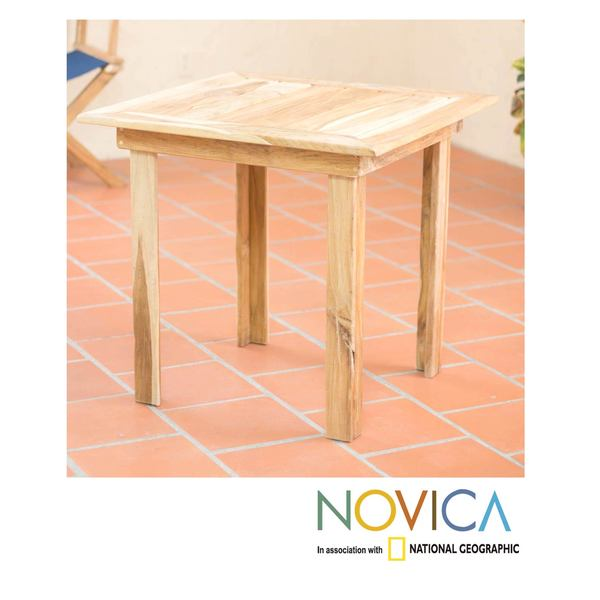 Handmade Teakwood 'Mexican Sierra' Square End Table (Mexico)