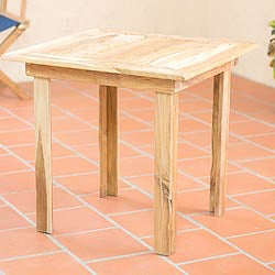 Handcrafted Teakwood 'Mexican Sierra' Square Accent Table (Mexico)