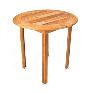 Handmade Teakwood 'Mexican Sierra' Round Accent Table (Mexico)